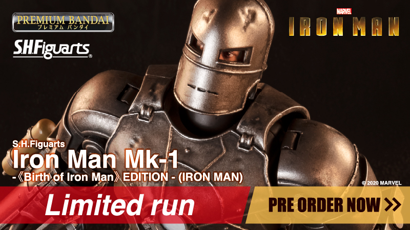 S.H.Figuarts Iron Man Mk-1 -Birth of Iron Man EDITION-IRON MAN