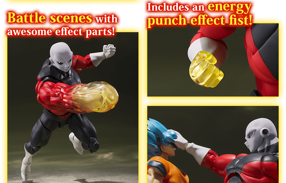 Battle scenes with awesome effect parts! Includes an energy punch effect fist!