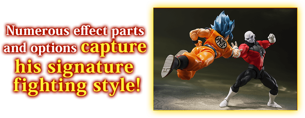 Numerous effect parts and options capture his signature fighting style!
